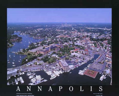 Annapolis Maryland Aerial Poster Skyline Photography