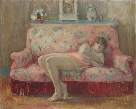 sur le canapé henri lebasque 1865 1937 la sieste sur le canapé