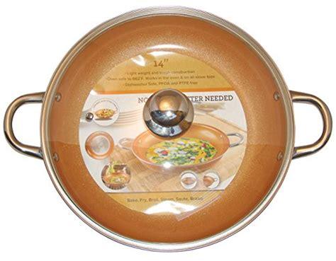 copper pan  piece set luxury induction cookware set  stick tookcook
