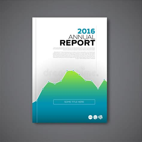 Modern Vector Annual Report Design Template Stock Vector