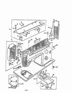 Kenmore 15814001 Arm Cover Diagram