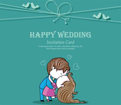 Set of wedding invitation cards elements vector graphics