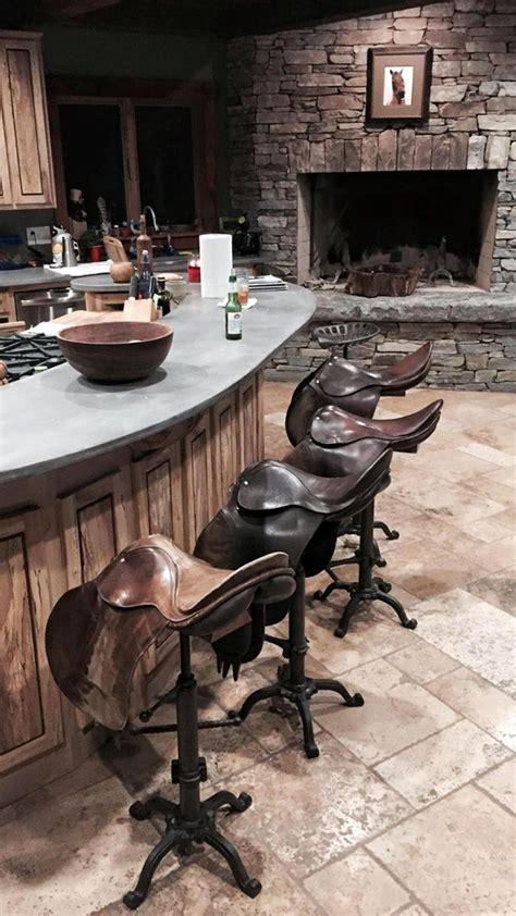 chaise de bar vintage stylish saddle home decor horses heels