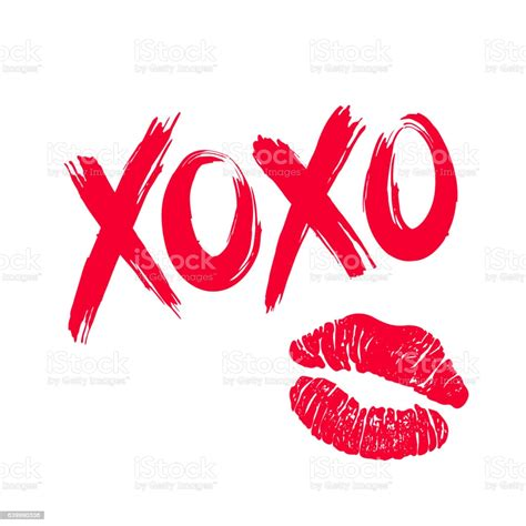 Xoxo And Lipstick Kiss Stock Illustration - Download Image ...