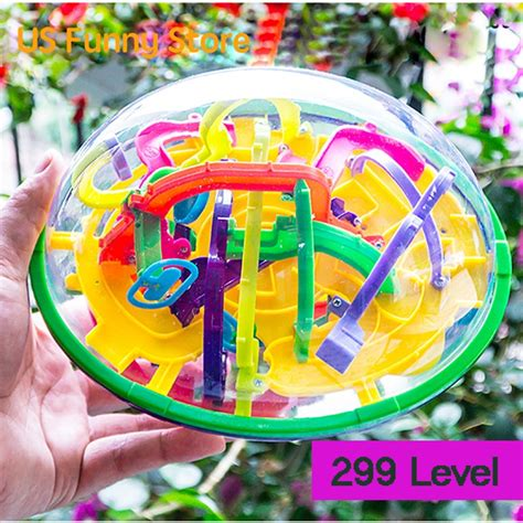 3d labyrinth puzzle maze intellect toys for children finger brain balance logic develop