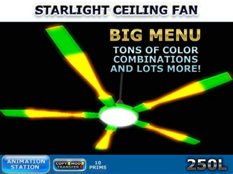 second marketplace fan starlight ceiling fan