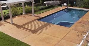 Swimming pool slabs swimming pool deck resurfacing for Pool deck ideas made from concrete