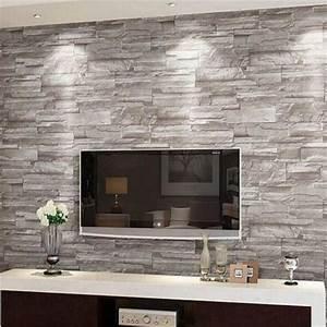 Mur Brique Salon : r tro en relief papier peint brique mur volume moderne ~ Zukunftsfamilie.com Idées de Décoration