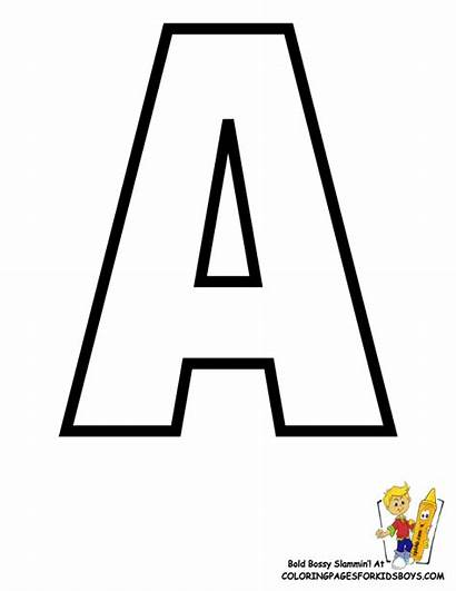 Alphabet Printables Coloring Pages Letters Sheets Classic