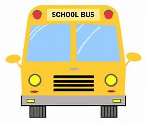 School Bus Front View Clipart - ClipartXtras
