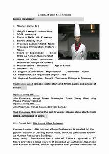 Cv Letter Template Resume Example Chef Resume Examples Free Resume