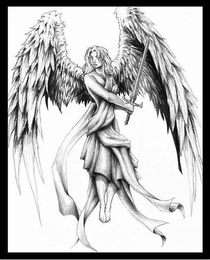Angel Female Warrior Deviantart Drawings Drawing Angels