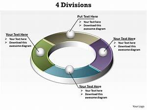 4 Divisions Segments Of A Circle Powerpoint Diagram