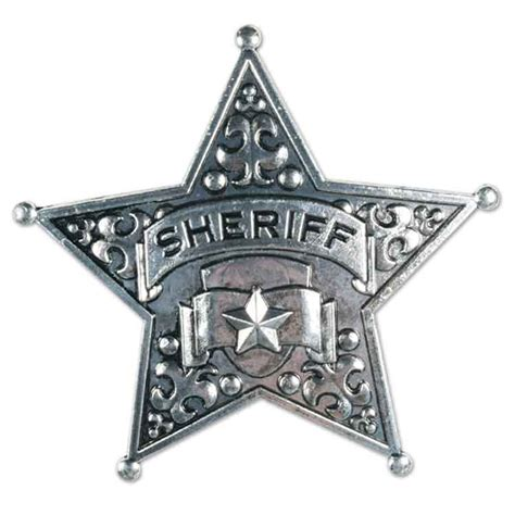 metal  point star sheriffs badge country western theme