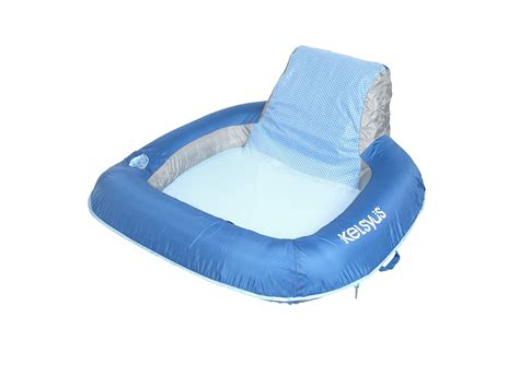 kelsyus go with me chair brownblue kelsyus floating mesh chair swimming pool lake lounging