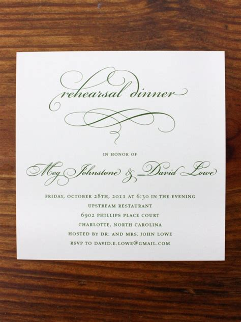rehearsal dinner invitation template rehearsal dinner invitations etiquette template best template collection