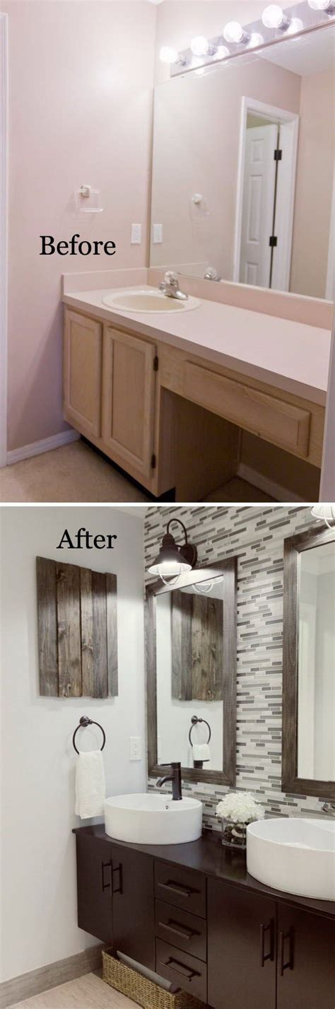 Diy Small Bathroom Makeovers by Best 25 Small Bathroom Makeovers Ideas On