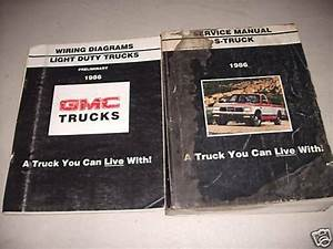 1986 Gmc S Truck Service Shop Repair Manual Set Oem W