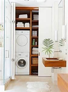 comment amenager une petite salle de bain With porte de douche coulissante avec seche linge salle de bain