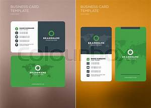 Corporate business card print template personal visiting for Horizontal business cards