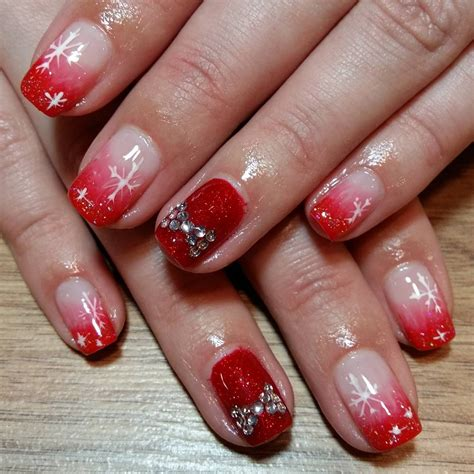 red  silver glitter nail art designs ideas