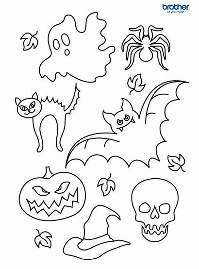 Halloween Coloring Colouring Pages Printable Template Creative
