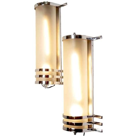 original 1930 s large deco wall sconces from mgm