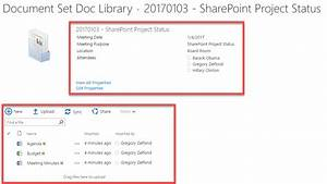 4 ways to organize project meeting documents in sharepoint With document library organization