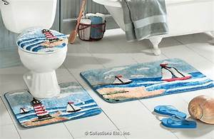 lighthouse bathroom a touch of the sea With lighthouse bathroom rugs