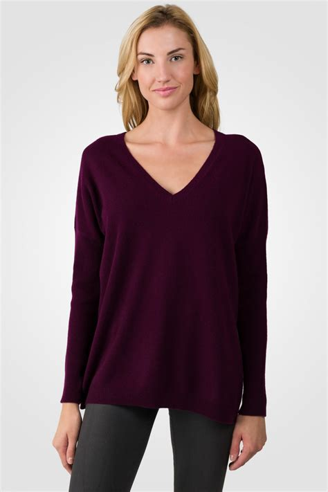 plum sweater plum oversized v dolman sweater j