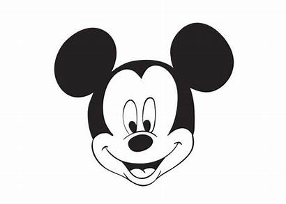 Mickey Mouse Face Coloring Pages Head Printable