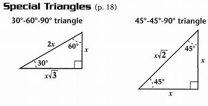 Triangles Special Formulas Calculus Pre Side