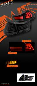 Smoked Black 3d Stripe Bar Led Tail Light With Sequential