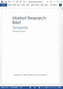 market research templates 10 word 2 excel With marketing research brief template