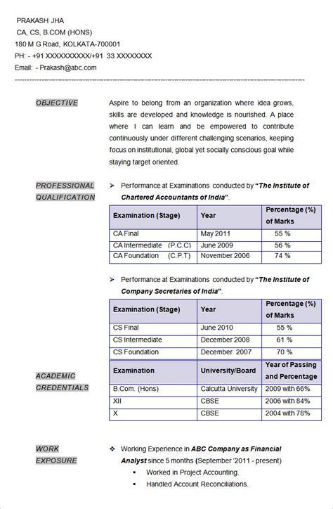 resume format samples resume format