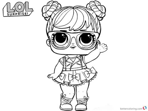 Lol Coloring Pages Big Eyes Doll
