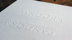 blind embossing fashion invitation pandora printed With business cards embossed lettering