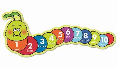 Numbers Clipart Number Line Caterpillar Counting Caterpillars