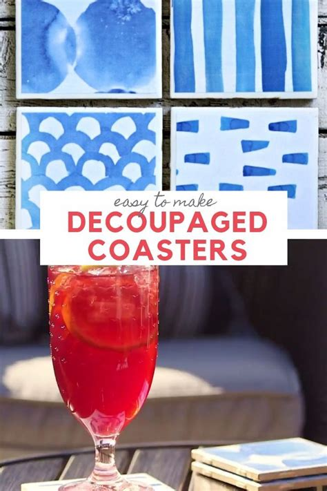 diy drink coasters craft tutorial    images