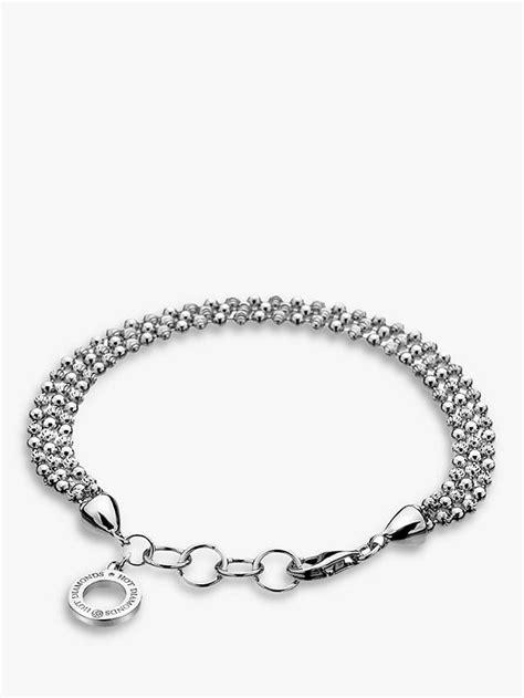 Hot Diamonds Sterling Silver Bead Bracelet, Silver at John