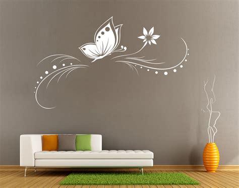 Butterfly Flower Vine Wall Art Sticker Living Room Uk Sh64