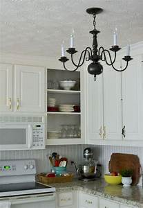 Farmhouse kitchen light home design for Best brand of paint for kitchen cabinets with lamps plus wall art