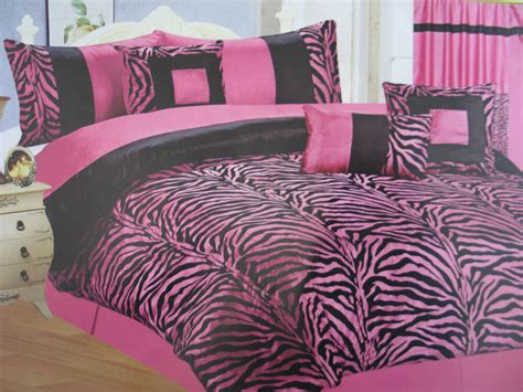 11 Pcs Queen Hot Pink/black Zebra Comforter Set With Matching Curtain How To Make Lined Curtains With Eyelet Tape Cafe Curtain Instructions Stick System Wall Ppt Rod Pocket Best Length For Bedroom Other Words Dunelm Ready Made Measure Fairy Lights Canada