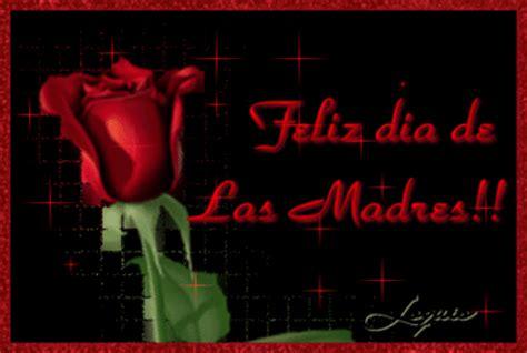 Cute Red Rose animated with quote feliz dia de las ma
