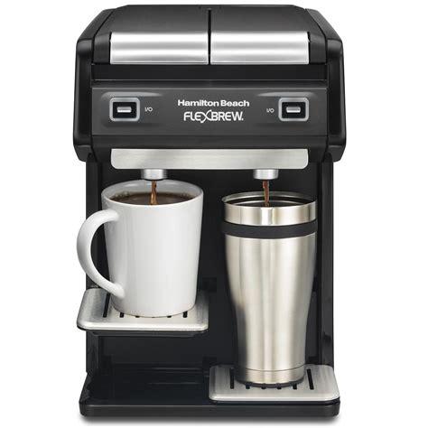 Chulux single serve coffee maker 9. FlexBrew® Coffee Maker Dual Single-Serve, Black - 49998 - HamiltonBeach.com