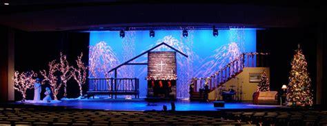 christmas scene church stage design ideas