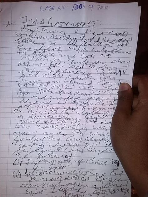 judge   worst handwriting  kenya