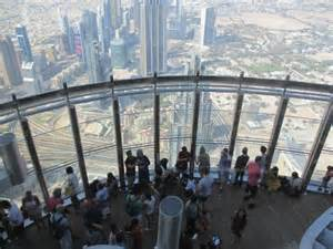 Burj Khalifa Top Floor Inside by Looking Down At The 124 Floor Outside Viewing Platform