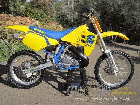 suzuki motocross bike 1990 suzuki rm 250 vintage motocross dirt bike vmx