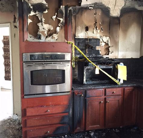 fire kitchen oven microwaves microwave hazard start samsung leaving burning actually heat